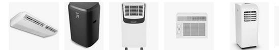 exemples de différents types de climatiseur